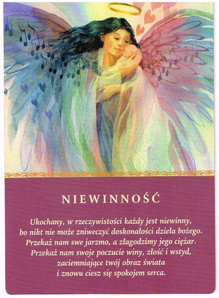 Znalezione obrazy dla zapytania niewinnośc   karta przesłania aniołów